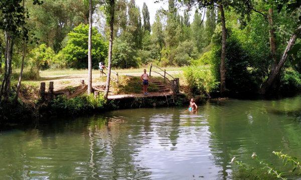 zona baño rio trema